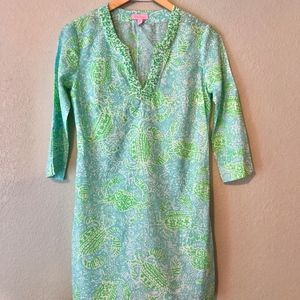 Lilly Pulitzer XS Crab Tunic Top Dress Cover Up